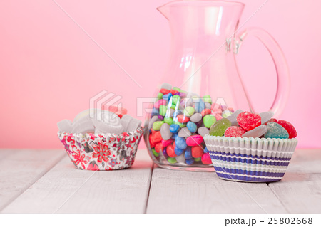 Colorful many sweet Jelly, flavor fruit, heartの写真素材 [25802668] - PIXTA