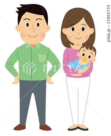 夫婦と乳児 25805733