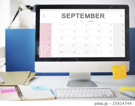 September Monthly Calendar Weekly Date Conceptの写真素材 [25814744] - PIXTA