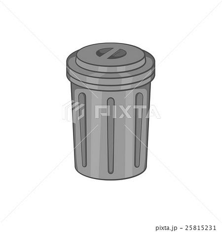 Trash can icon, black monochrome styleのイラスト素材 [25815231] - PIXTA