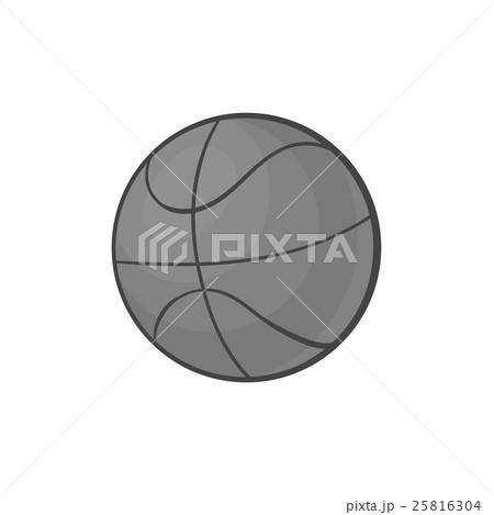 Basketball icon, black monochrome styleのイラスト素材 [25816304] - PIXTA