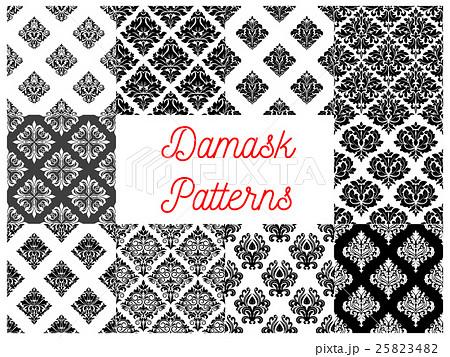 Stylized floral damask seamless patternsのイラスト素材 [25823482] - PIXTA