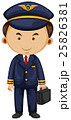 Pilot in blue suit carrying breifcase 25826381