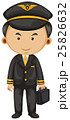 Pilot in black suit and briefcase 25826632