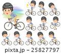 男性 自転車 ロードバイクのイラスト 25827797