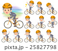 Gray Suit Businessman on rode bicycle 25827798