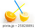 fresh natural lemon and orange juice with ice 25828891