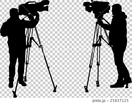 Cameraman Silhouettes Stock Illustration 25837125 Pixta