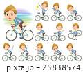 Jacket Short pants knit hat man on rode bicycle 25838574