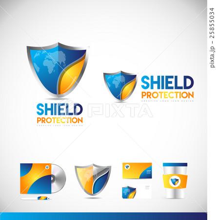 Shield logo vector icon design 25855034