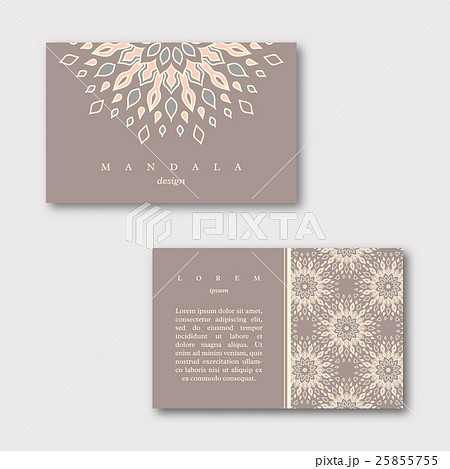Set of ornamental business cards with mandala のイラスト素材 [25855755] - PIXTA