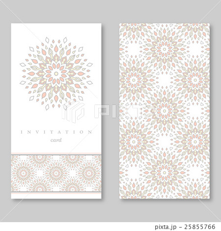 Set of two cards, template for greeting,invitationのイラスト素材 [25855766] - PIXTA