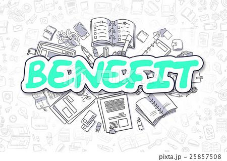 Benefit - Doodle Green Inscription. Business 25857508