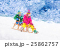 Kids having fun on sleigh ride 25862757