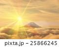 CG 富士山 朝日のイラスト 25866245