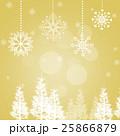 クリスマスツリー クリスマス 背景のイラスト 25866879