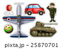 Sticker set of different toys 25870701