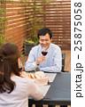 夫婦 食事 レストランの写真 25875058