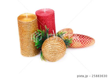 Christmas candlesの写真素材 [25883630] - PIXTA