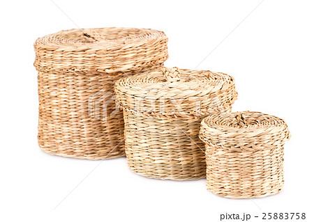 Wicker boxesの写真素材 [25883758] - PIXTA
