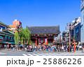 東京 浅草 雷門前の風景 25886226