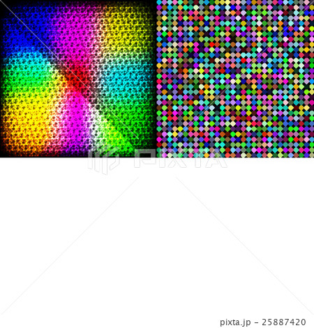Set of Abstract rainbow colorful tiles mosaic painのイラスト素材 [25887420] - PIXTA