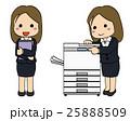 スーツ会社員女性・コピー機3 25888509