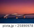 東京ゲートブリッジと夕焼け 25890978