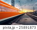 電車 列車 線路の写真 25891873