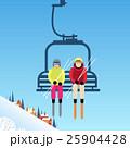 スキーヤー ベクトル 人々のイラスト 25904428
