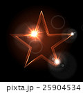 Glowing glossy star shape on black background 25904534