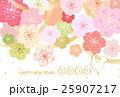 桜 年賀状 酉年のイラスト 25907217
