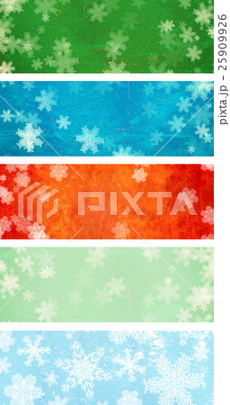 Set of grunge Christmas banners with snowflakesのイラスト素材 [25909926] - PIXTA