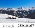 Skiers at mountains ski resort Bad Gastein Austria 25910167