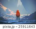 woman standing in winter landscape 25911643