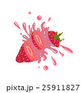 Strawberry Cut In The Air Splashing The Juice 25911827