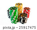 stack of gambling chips on white background 25917475