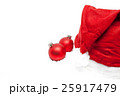 christmas balls with red santa claus hat  25917479