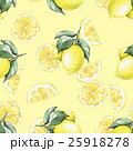Lemons and slice. Watercolor seamless pattern 1 25918278