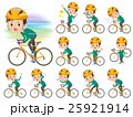 school boy Green Blazer on rode bicycle 25921914