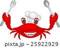 Crab chef cartoon 25922929