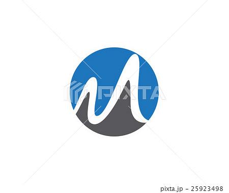 m letter logo templateのイラスト素材 25923498 pixta