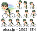 Camouflage T-shirt men ride on rode bicycle 25924654