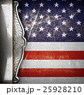 silver background painted to US flag.  25928210