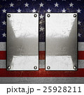 silver background painted to US flag.  25928211