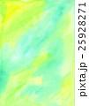 水彩テクスチャーで手描き背景でグリーン色黄 25928271
