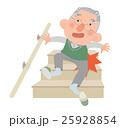 階段で足をすべらせ、転倒した高齢男性 25928854