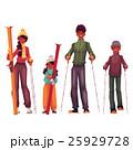 スキー 人々 人物のイラスト 25929728