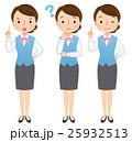 女性 表情 セットのイラスト 25932513