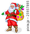 Santa Claus with bag of gifts 25937893